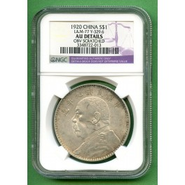 1920 CHINA $1  NGC AU DETAILS